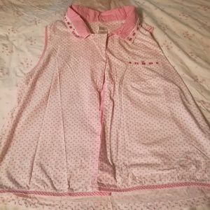 Adorable pink Rosebud and gingham sleep pajama set